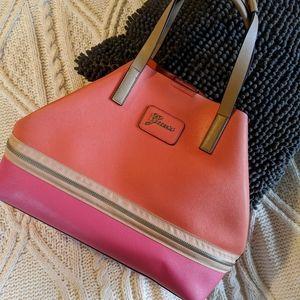 Large pink & orange GUESS tote